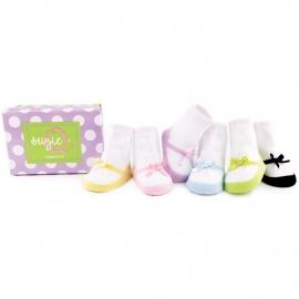 6 chaussettes pour bébé assortis SUZiE Q'S (0 à 12 mois)