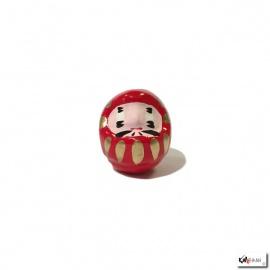 Daruma en papier mâché mini rouge (h4.5cm)