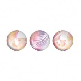 3 Magnets en verre Kimmidoll MiZUYO (Tendresse)