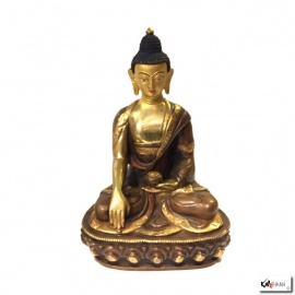 Bouddha ShAKYAMUNi en laiton doré