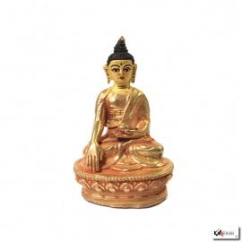 Bouddha ShAKYAMUNi en laiton doré (h8.2cm)