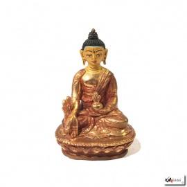 Bouddha MédECiNE en laiton doré (h8.5cm)