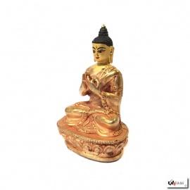 Bouddha VAiRICANA en laiton doré (h8.2cm)