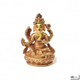 Bouddha GANESh en laiton doré (h7.8cm)