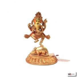 Bouddha GANESh en laiton doré (h11.5cm)