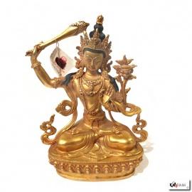 Bouddha MANjUShRi en laiton (h21.5cm)