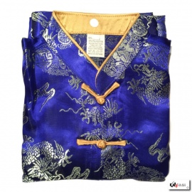 Ensemble enfant brocart DRAGON & ChEVAL bleu roi