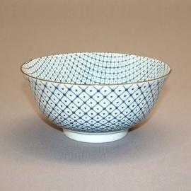 Bol à soupe BLUE MiX shikaku en porcelaine japonaise (d15.5cm)