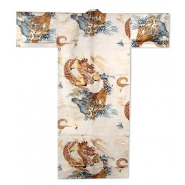Yukata long TiGRE et DRAGON 100% coton