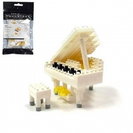nanoblock mini PiANO BLANC