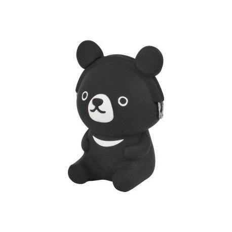 Porte-monnaie mimi POCHi Friends 3D OURS noir en silicone