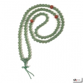Collier mala en jade aventurine 108 perles de 8mm