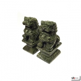 Chiens de Foo en jade (h12cm)