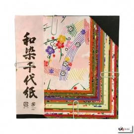 Papier origami 40 feuilles 10x10cm assortis