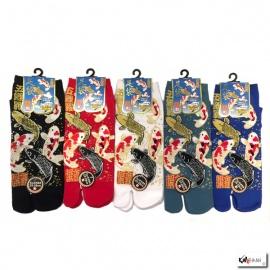 Soquettes à orteil japonaises CARPES KOi (extensible t39 à t44)