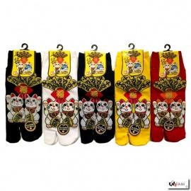 Soquettes à orteil japonaises DOUBLE MANEKi NEKO (extensible t39 à t44)