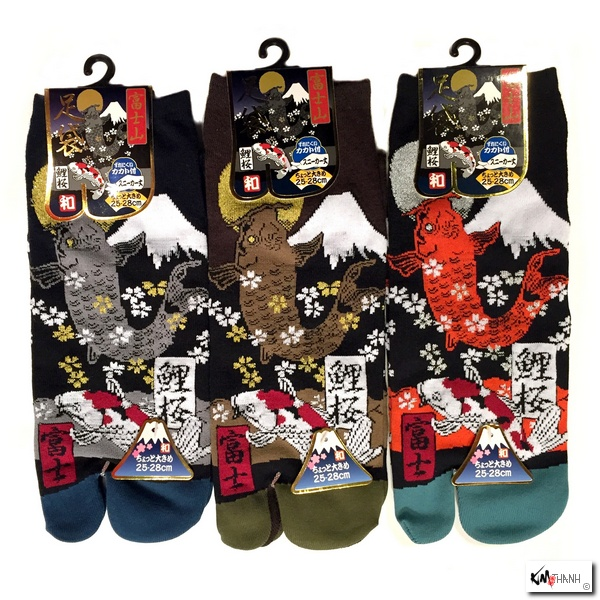 Soquettes orteil japonaises carpe koi et mont fuji for Peluche carpe koi