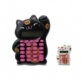 Calculatrice MANEKi NEKO noir