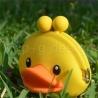 Porte-monnaie mimi POCHi Friends 3D DUCK YELLOW en silicone