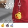 Porte-clés mimi POCHi-Bit Friends 3D DUCK YELLOW en silicone