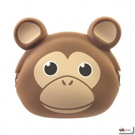 Porte-monnaie mimi POCHi Friends SiNGE brun en silicone