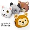 Porte-monnaie mimi POCHi Friends WAO en silicone