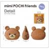 Porte-monnaie mimi POCHi Friends KUMA en silicone