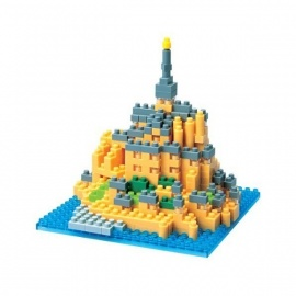 nanoblock monument MONT SAiNT-MiChEL (France)