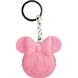 Porte-clés POCHi-Bit Disney MiNNiE rose en silicone