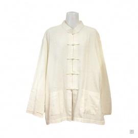 Veste Kung-fu / Tai-chi 100% soie sauvage (blanc)