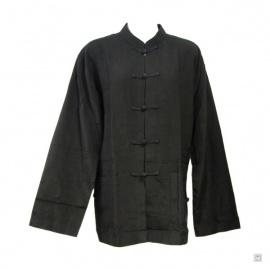 Veste Kung-fu / Tai-chi 100% soie sauvage (noir)