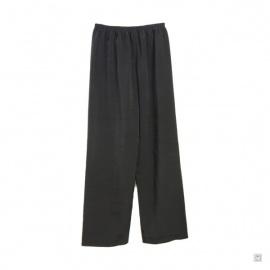Pantalon Kung-fu / Tai-chi noir 100% polyester brillant