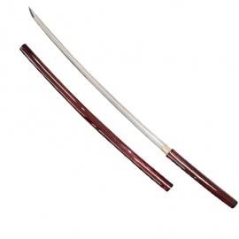 Shirazaya rouge forgé main 赤白鞘 (lame DAMAS)