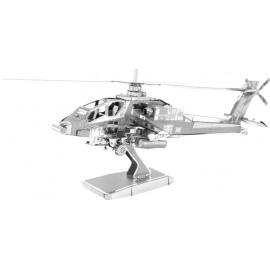 Miniature à monter en métal HéLiCOPTèRE APAChE AH-64 (L12.5cm)