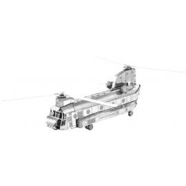Miniature à monter en métal HéLiCOPTèRE ChiNOOK CH-17 (L18.8cm)