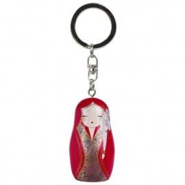 Porte-clés BABUShKA by kimmidoll 5cm (rouge)