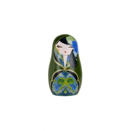 Magnet BABUShKA by kimmidoll 5cm (vert et bleu)