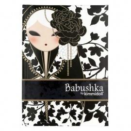 Carnet 12.5*8 BABUShKA by kimmidoll 10cm (noir et blanc)