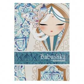 Carnet 12.5*8 BABUShKA by kimmidoll 10cm (bleu)