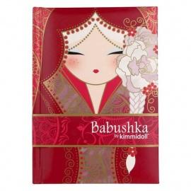 Carnet 12.5*8 BABUShKA by kimmidoll 10cm (rouge)