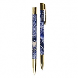 Stylo bille BABUShKA by kimmidoll 14cm (bleu marine)