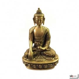Bouddha MédECiNE en laiton (h20.5cm)