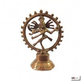 Shiva Nataradja en laiton (h14cm)
