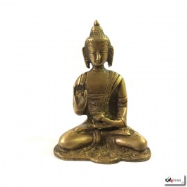 Bouddha AMOGhASiddhi en laiton (h9cm)