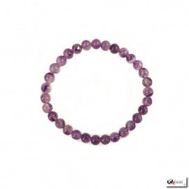 Bracelet perles en AMéThYSTE 6mm