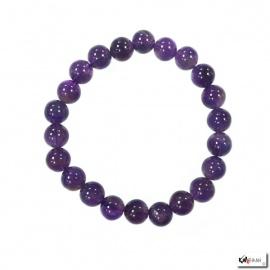 Bracelet perles en AMéThYSTE 8mm