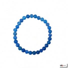 Bracelet perles en ONYX BLEU 6mm