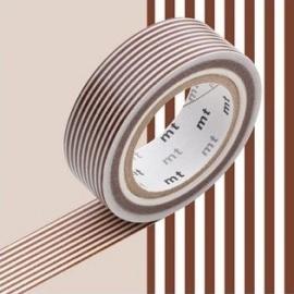 masking tape déco border deep brown (lignes marron foncé) 15mm*10m