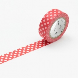 masking tape déco dot red base (rouge pois blancs) 15mm*10m