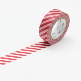 masking tape déco stripe vermillon (stries vermillon) 15mm*10m